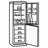 Geladeira Congelador Colorir Desenho Pintar Neveras Refrigerator Frigorifico Dibujos Imprimir Colorear Tudodesenhos Congelando Elsa Tudo Template sketch template