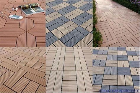 Wpc Diy Tile Waterproof Outdoor Decking Floor Tile Cheap