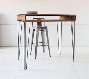 Haute Table De Bar : 74 id es de diy avec des hairpin legs ~ Edinachiropracticcenter.com Idées de Décoration