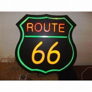 LED NEON Style Route 66 Sign Billboard The