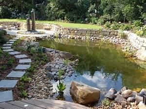 Gartenteich Mit Bachlauf : gartenteich galabau m hler naturteich ~ Buech-reservation.com Haus und Dekorationen