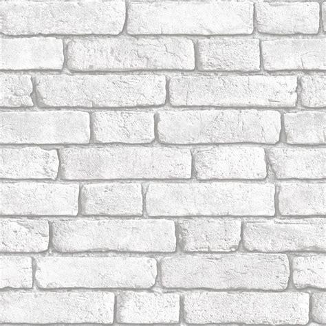 Muriva White Brick wall Wallpaper   Departments   DIY at B&Q