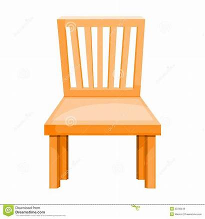Chair Illustration Wood Isolated Background Vector Royalty