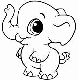 Elephant Coloring Pages Baby Animal Cute Rocks Colouring Zoo Getcoloringpages Dolphin sketch template
