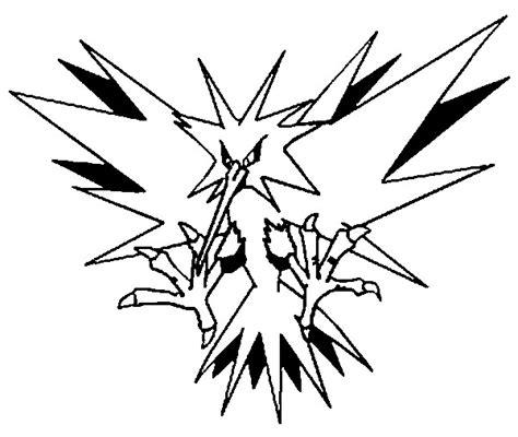 malvorlagen pokemon zapdos zeichnungen pokemon