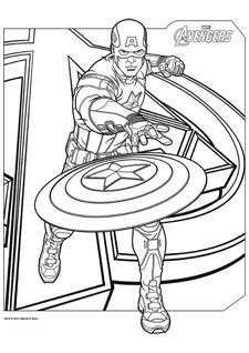 coloriages avengers iron man captain america hulk