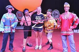 Sacha Jones Meets Circus Acrobats Hobart International Tennis