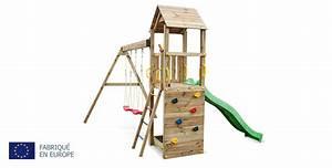 Aire De Jeux Soulet : aire de jeux en bois avec toboggan et 2 balan oires pin s ch ~ Dailycaller-alerts.com Idées de Décoration