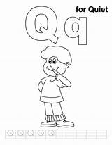Quiet Coloring Pages Letter Printable Practice Handwriting Worksheets Loud Letters Alphabet Queen Bestcoloringpages Preschool Activities Cricket Very Clipart Sound Adult sketch template