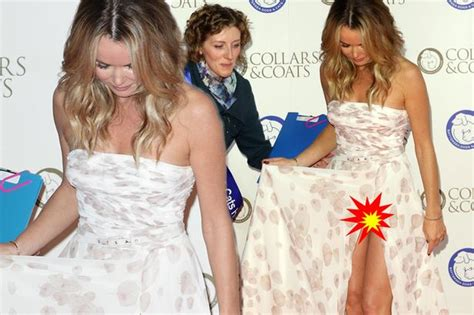 Poor Amanda Holden Suffers Wardrobe Mishap On The Red