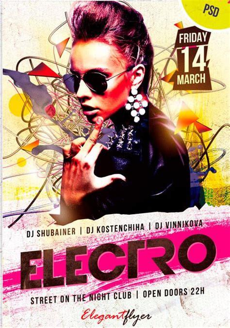download graphicriver electro dj party flyer template 6502526 free psd flyer electro dj party psd flyer template http