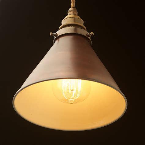 pendant light shades bronze cone light shade pendant