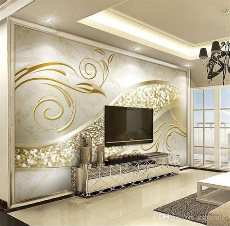 Abstract Wallpaper Room by Custom Photo Wallpaper Luxury European Style Golden