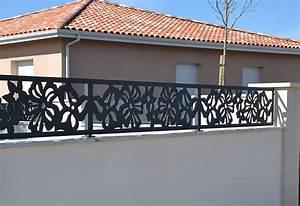 Cloture Sur Muret : brise vue terrasse palissadesign cl ture design brise ~ Carolinahurricanesstore.com Idées de Décoration