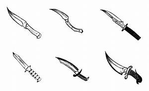 6 Knife Drawing (PNG Transparent) | OnlyGFX.com