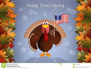 turkey with american flag for thanksgiving stock illustration image 45044868