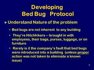 Bed bugs other annoying issues in the workplace ppt for Bed bug protocol