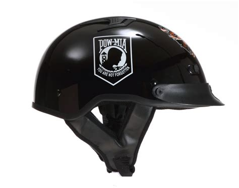 Dot Vented Pow Mia Motorcycle Biker Half Helmet Beanie