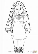 American Doll Coloring Davemelillo Julie Printable sketch template