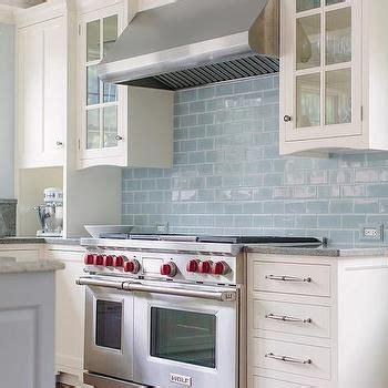 blue subway tile kitchen white kitchen cabinets with blue glazed subway tiles 4841