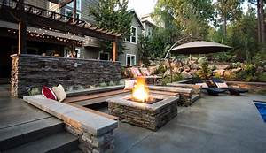 stone-fire-pit-designs-Patio-Contemporary-with-bar-BBQ