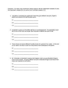 Variables In Science Worksheet Rcnschool