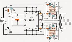 SG 3525 Automatic PWM Voltage Regulation Circuit Homemade