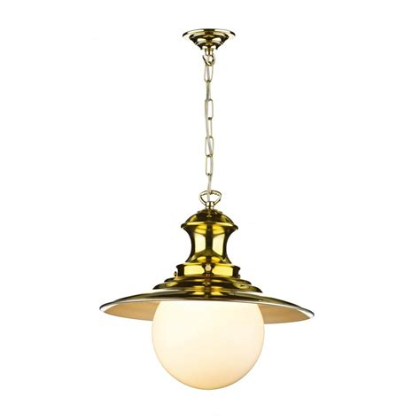 pendant light polished brass station l