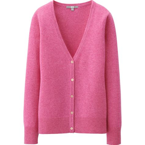 theory sleeve v neck uniqlo v neck cardigan in pink lyst