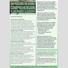Improving Reading Comprehension In The Primary Classroom With John Murray