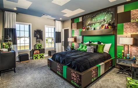 Minecraft Themed Bedroom Wallpaper by Accent Wall Ideas Interior Designs Designing Idea