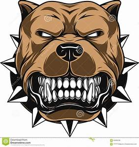 Angry dog stock vector. Illustration of clip, collar ...