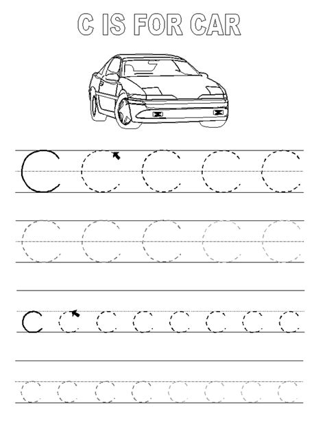 Trace The Letter C Worksheets  Activity Shelter  Kids Worksheets Printable Pinterest