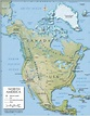 Shaded Relief Map of North America (1200 px) - Nations ...