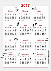 Free printable 2017 calendar - sky themed - freebie ...