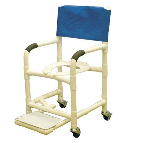 18 pvc shower chair w sliding footrest 3 x 1 1 4 heavy