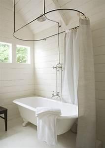 Rideau De Salle De Bain : une salle de bain tr s pur e avec sa baignoire vintage et ~ Premium-room.com Idées de Décoration