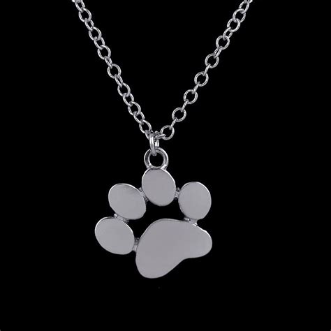 cute paw print necklace bengal cats