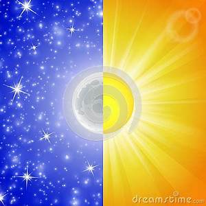 Day And Night  Vector Illustration Royalty Free Stock
