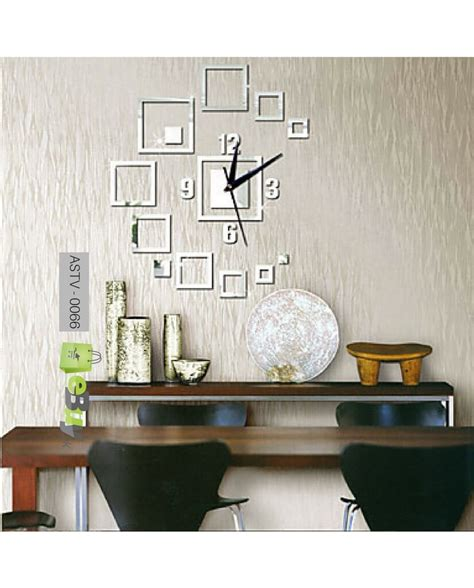 buy creative wall sticker  wall clock   pakistan