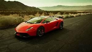 Red Lamborghini Gallardo on the road wallpaper - Car ...