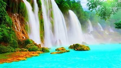 Scenery Water Wallpapers Waterfall Scenic Nature Beauty