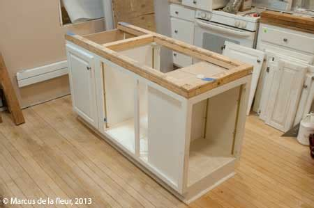 how to make kitchen island from cabinets april 2013 reshaping our footprint 9489