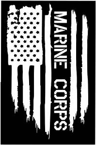 American flag usmc marine corps usa military vinyl die cut for Marine decals and lettering