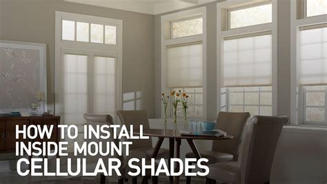 how to install a l shade how to install inside mount cellular shades
