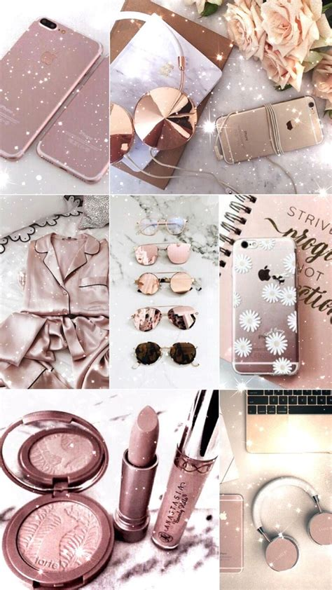 Asthetic Iphone Lock Screen Girly Gold Wallpaper by Lockscreens And Walls Photo ɠιr ℓιʂɧ щąιιʑ In 2019
