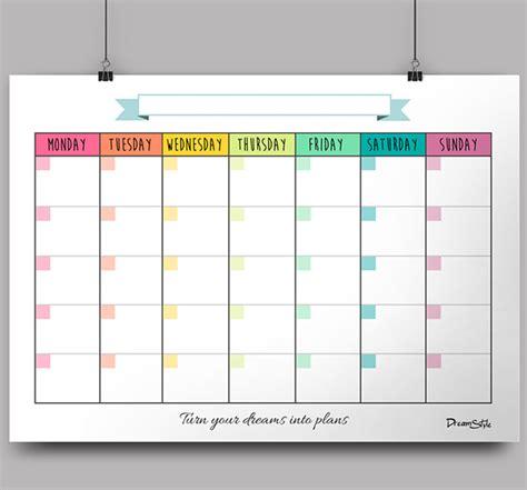 calendar monthly planner  printable  behance