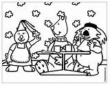 Coloring Pages Restaurant Breakfast Colouring Boowa Kwala Dinnerware Sheet Coloringpages February Games sketch template