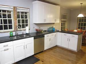 enchanting kitchen countertops gallery options with white With enchanting kitchen with white cabinets
