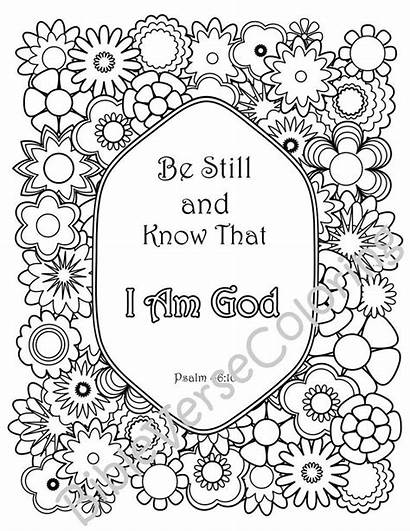 Coloring Bible Verse Christian Quotes Adult Verses